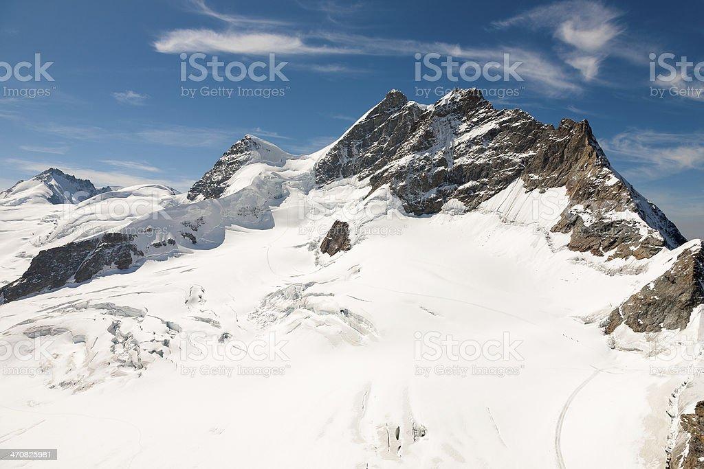 Three peaks in Swiss Alps royalty-free stock photo