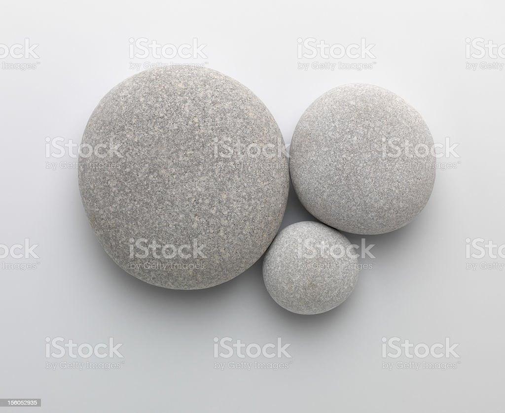 Three pebbles together royalty-free stock photo