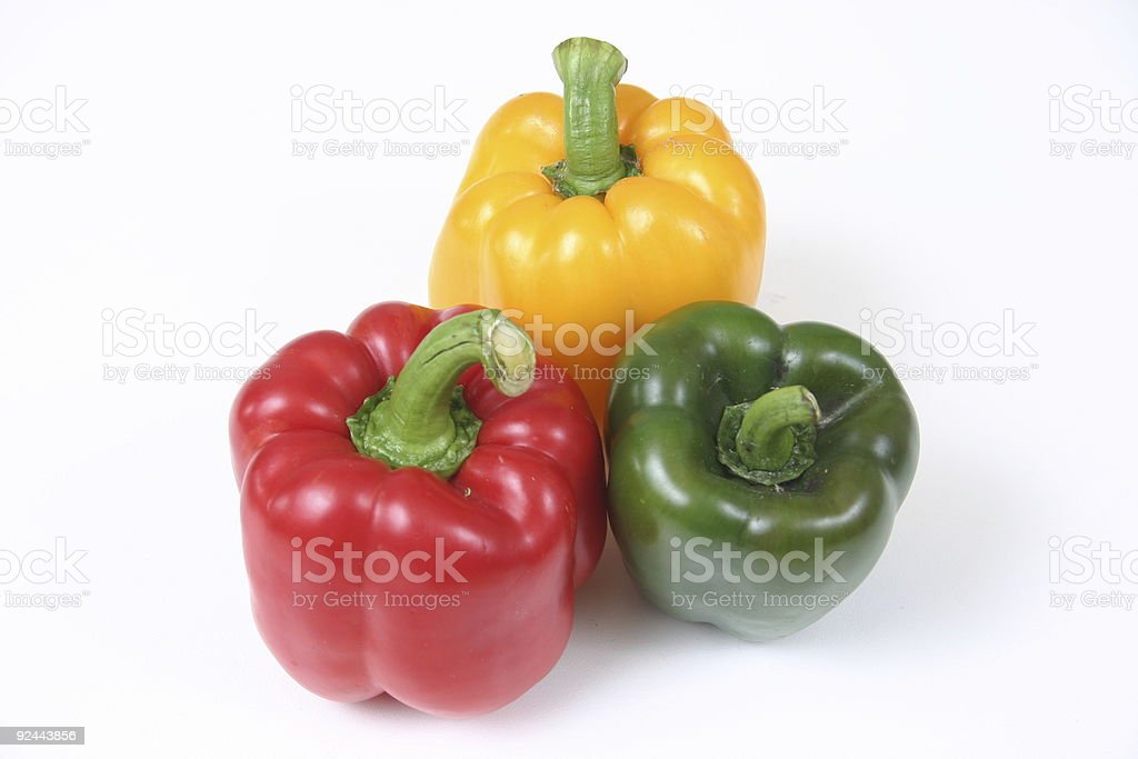 three peppers 2 stock photo