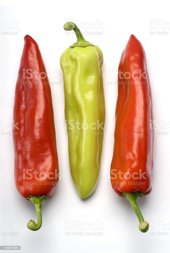 Three Peppers royalty-free stock photo