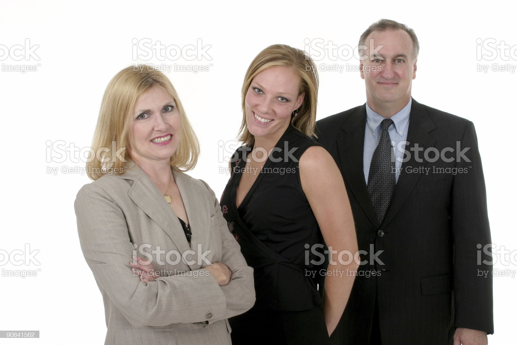 Three Person Business Team 2 royalty-free stock photo