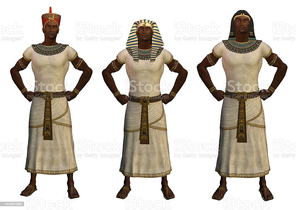 Three Pharohs of Egypt stock photo