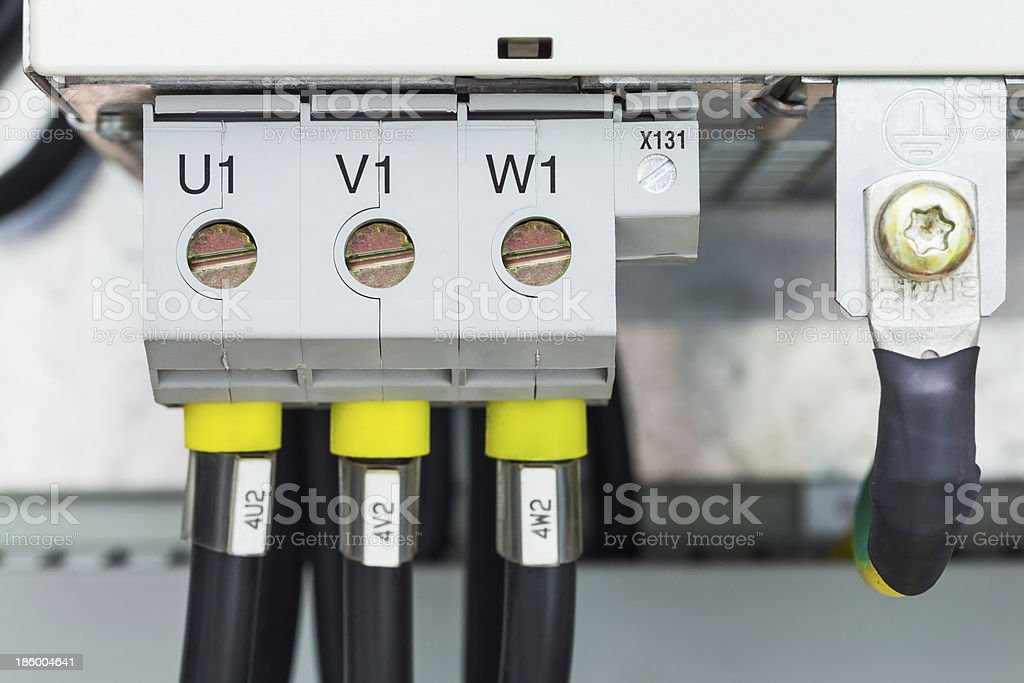 Three phase power connection royalty-free stock photo