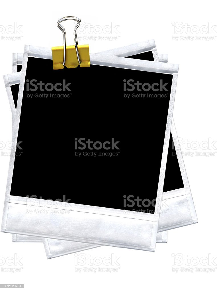 Three photos Clamped together royalty-free stock photo