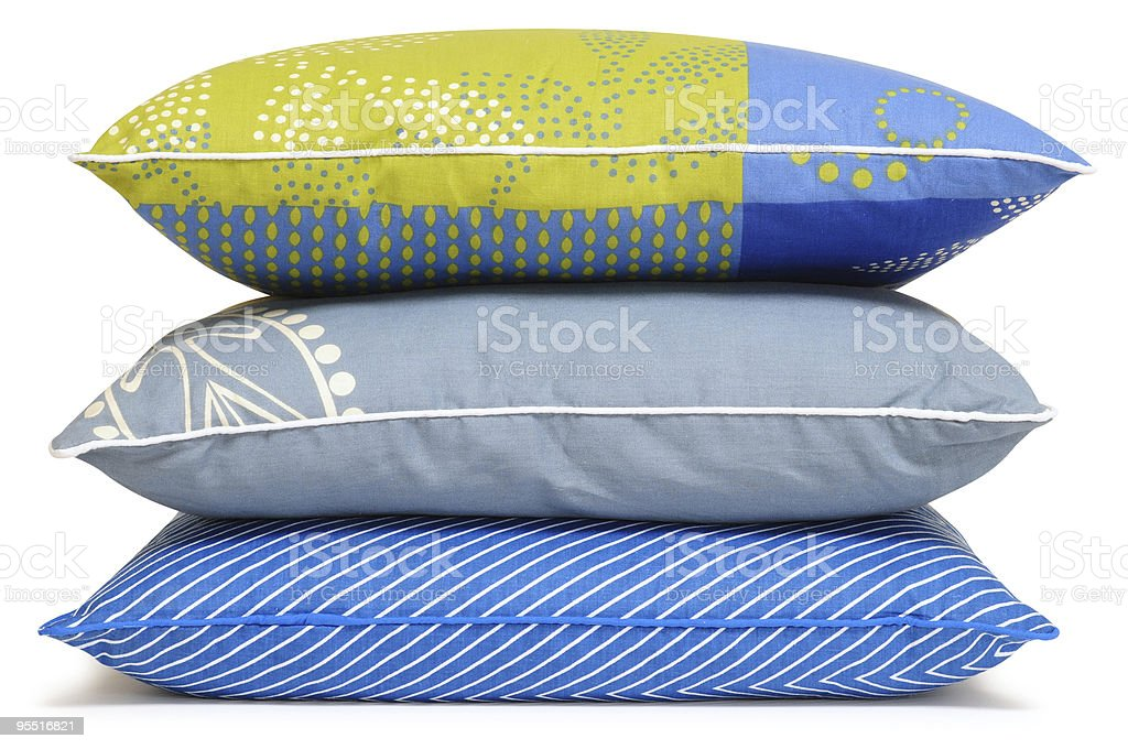 Three pillows. Clipping path stock photo