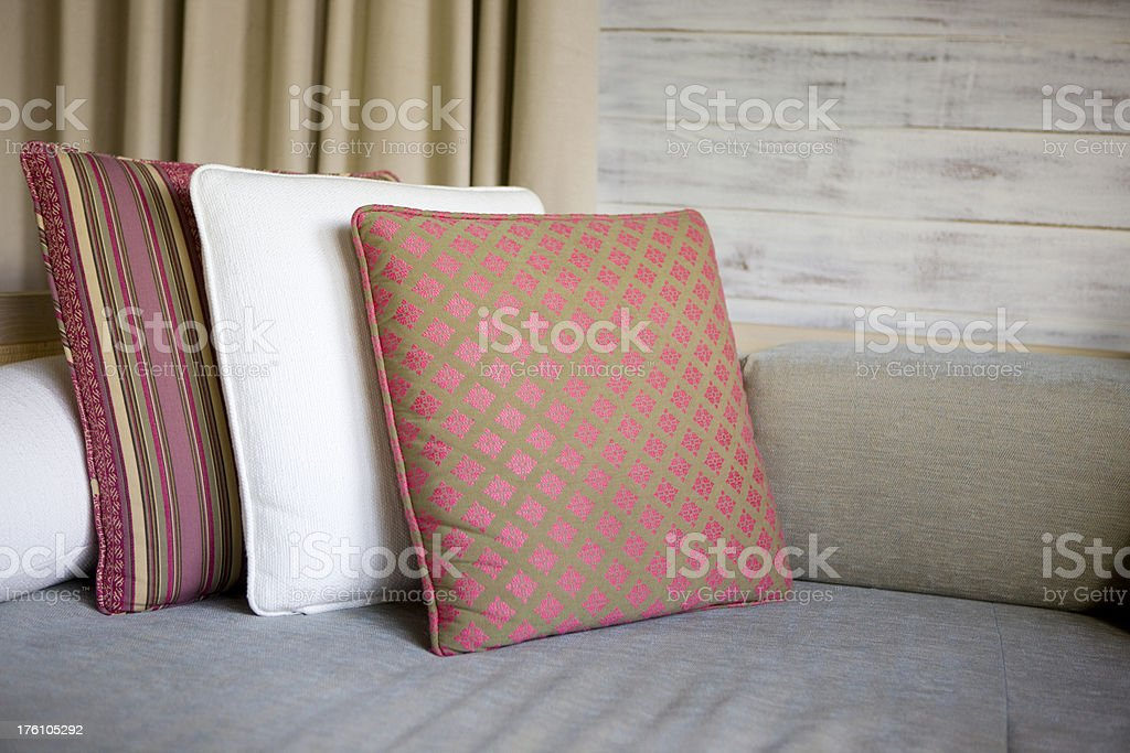 Three pillows royalty-free stock photo