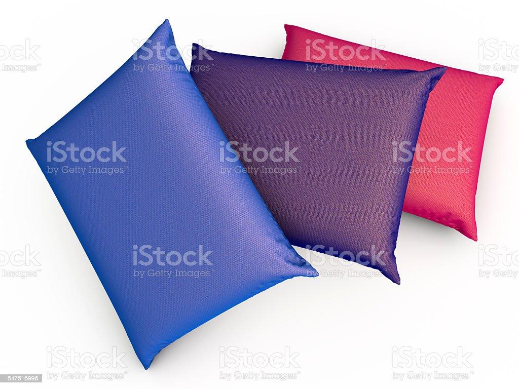 Three Pillows stock photo