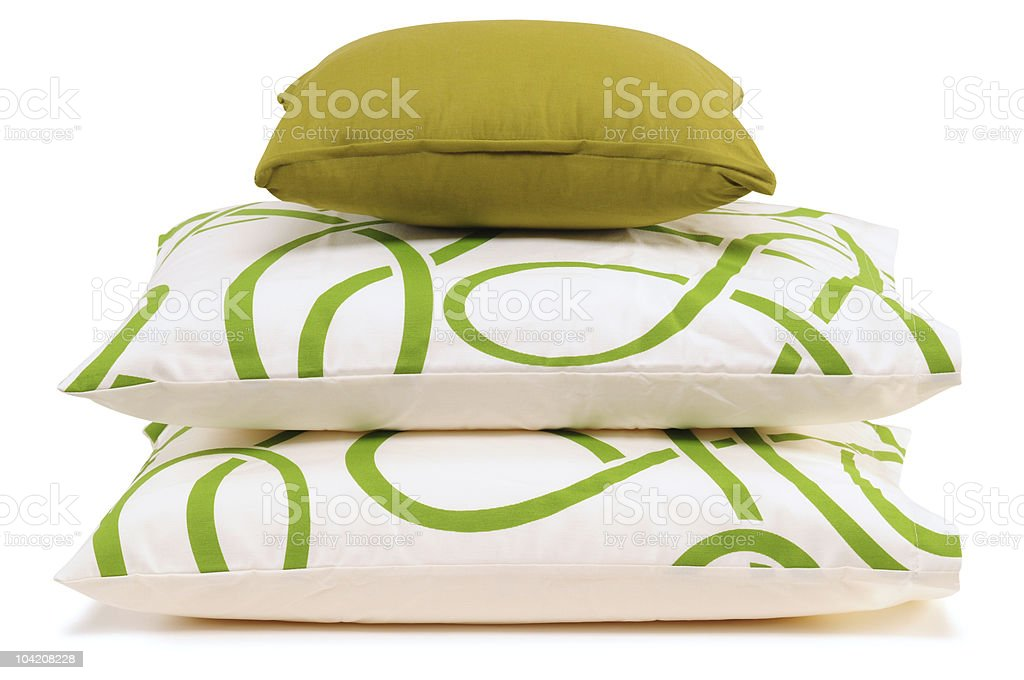 Three pillows stacked on each other royalty-free stock photo