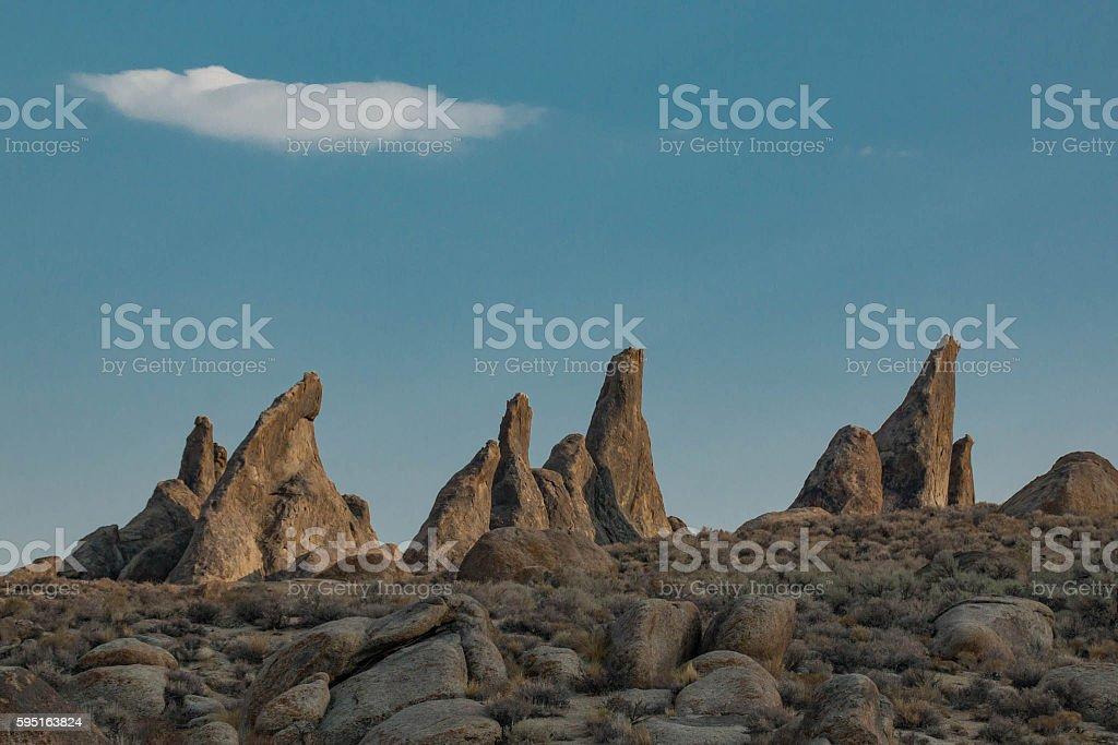 Three Pinnacles stock photo