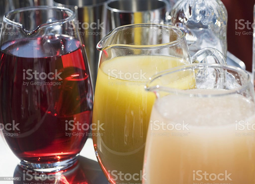 three pitchers of cocktails royalty-free stock photo