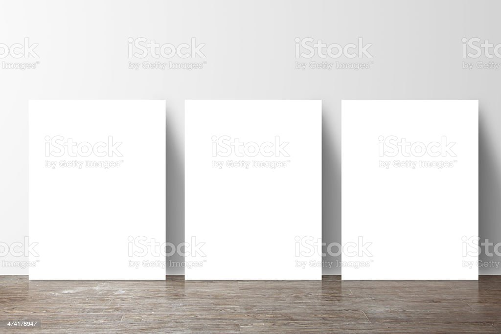 three  placard stock photo