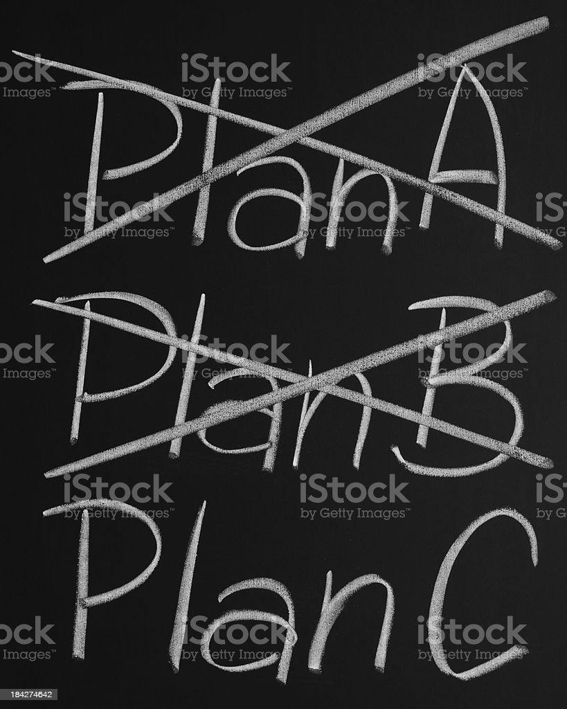 Three Plans royalty-free stock photo