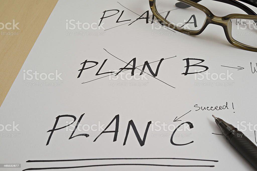 Three Plans stock photo