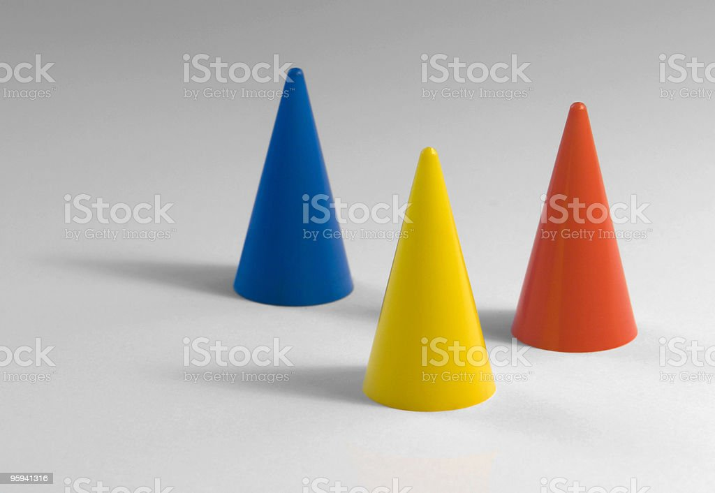 three plastic tapers royalty-free stock photo