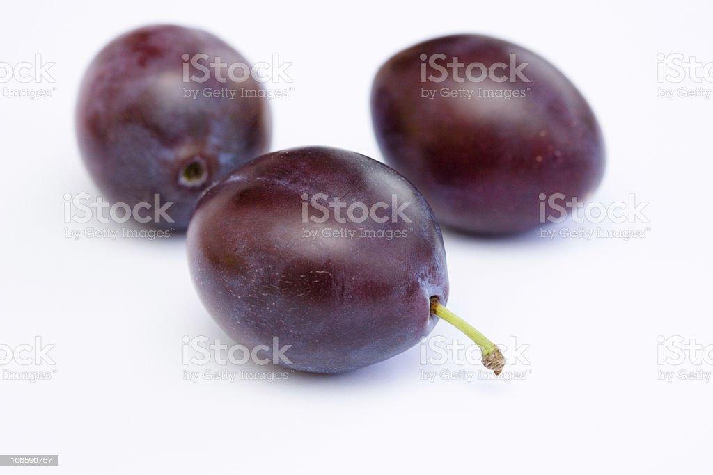 three plums royalty-free stock photo