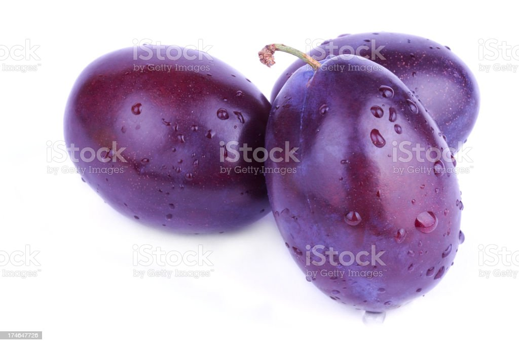 Three plums royalty-free stock photo