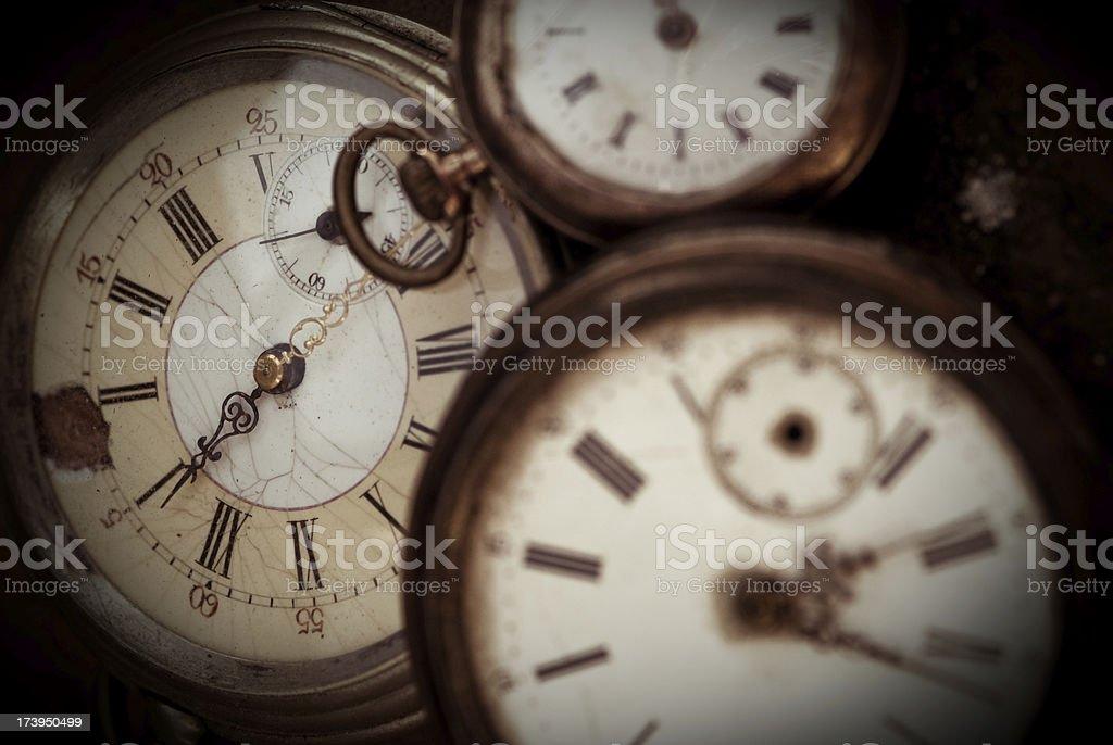 Three Pocket watches royalty-free stock photo