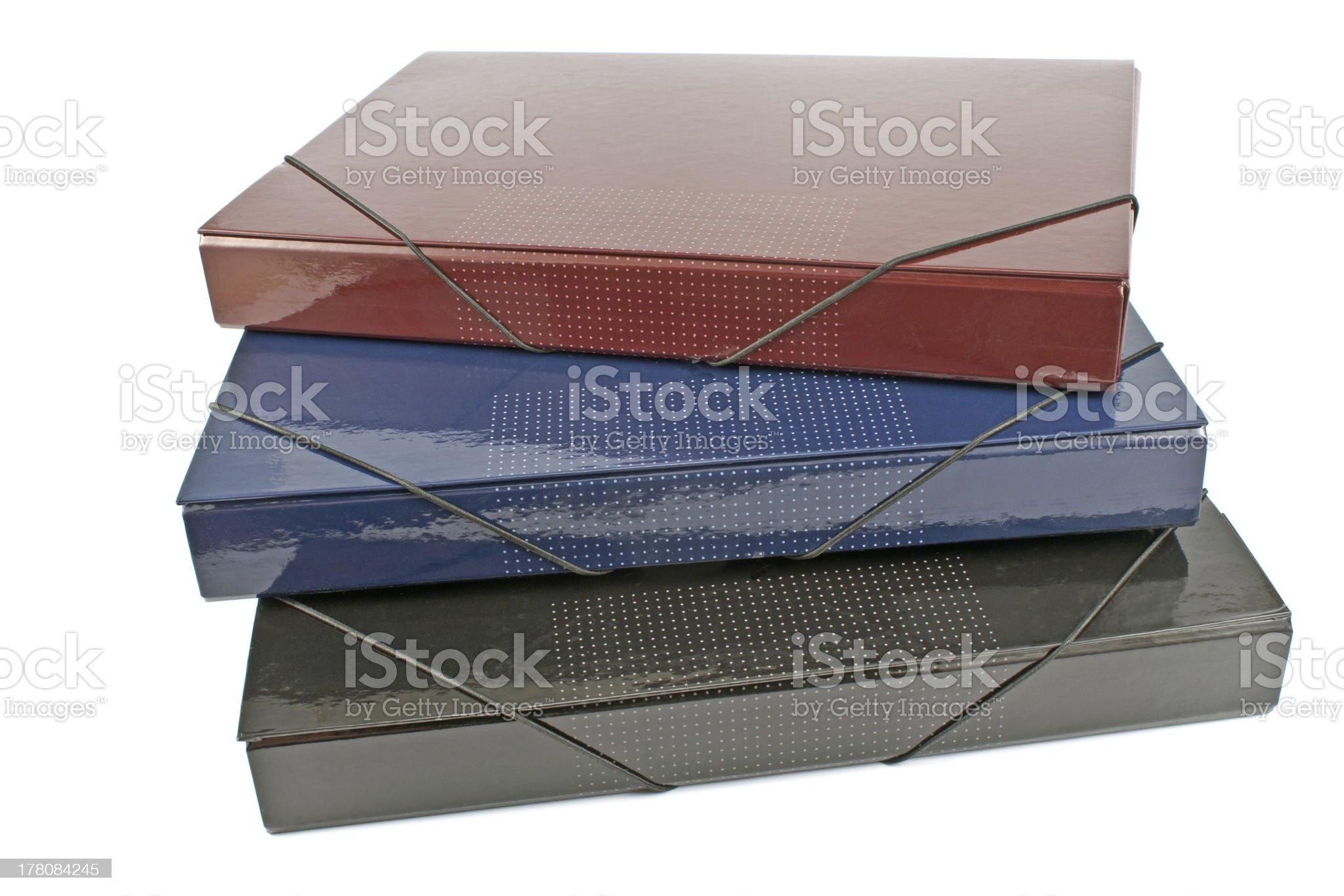 Three portfolio folders royalty-free stock photo