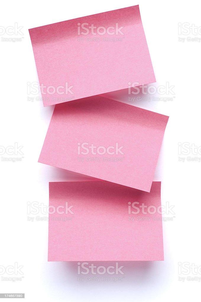 Three Post-it Notes on white stock photo