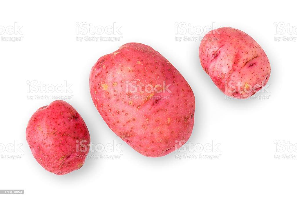 Three Potatoes stock photo