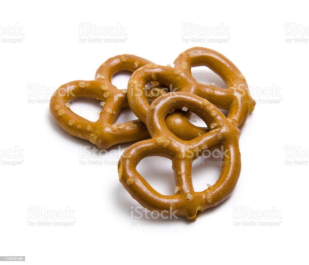Three pretzels stock photo