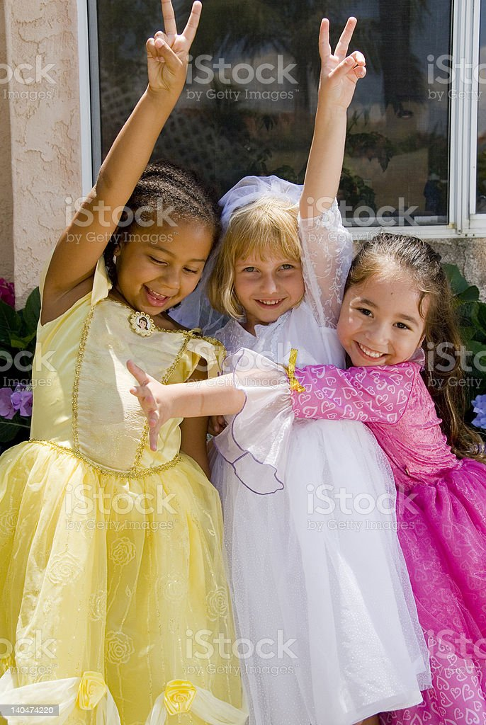 Three Princesses 2 stock photo