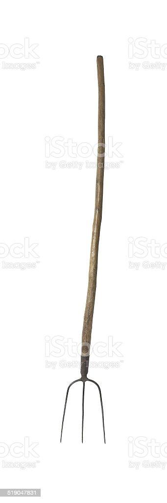 three pronged pitchfork stock photo
