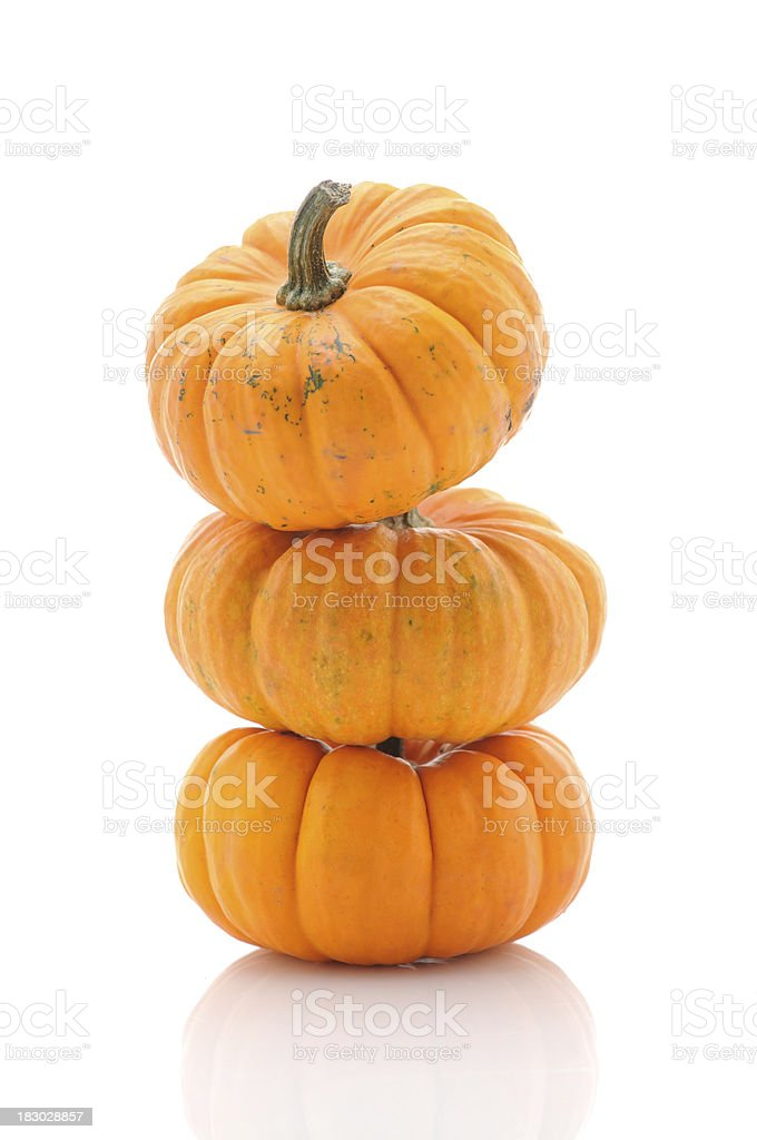 Three pumpkins royalty-free stock photo