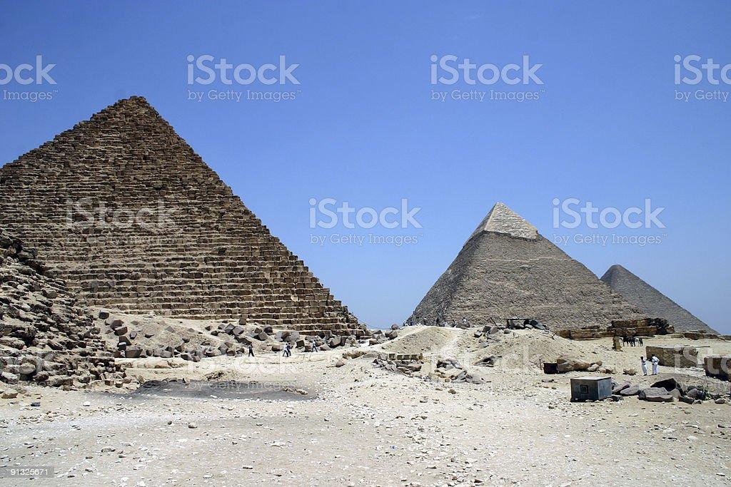 Three Pyramids stock photo