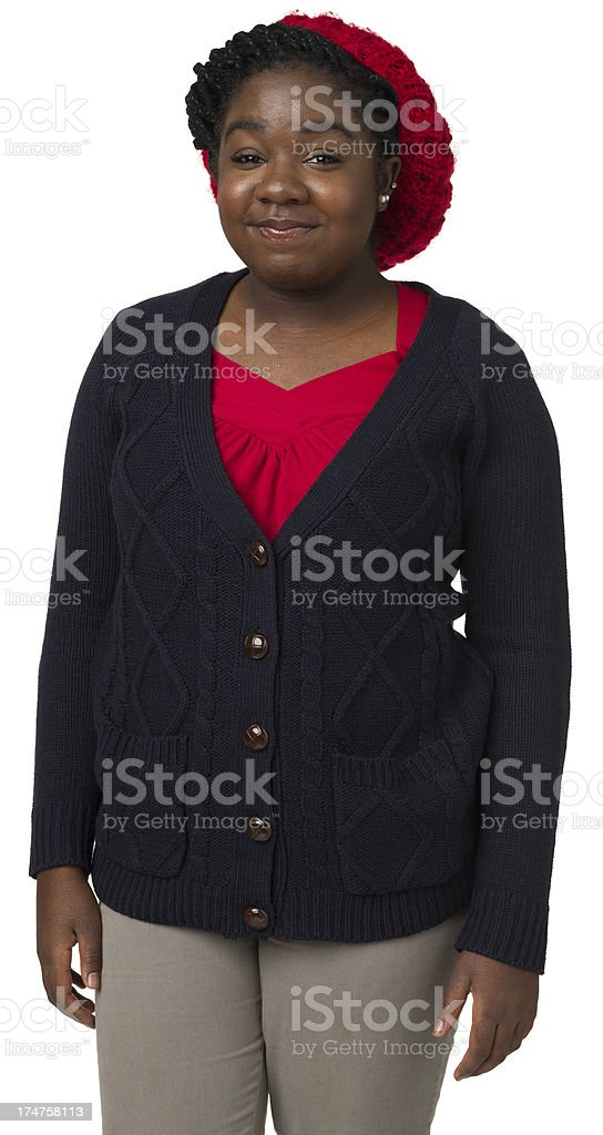Three Quarter Portrait Of Young Woman royalty-free stock photo