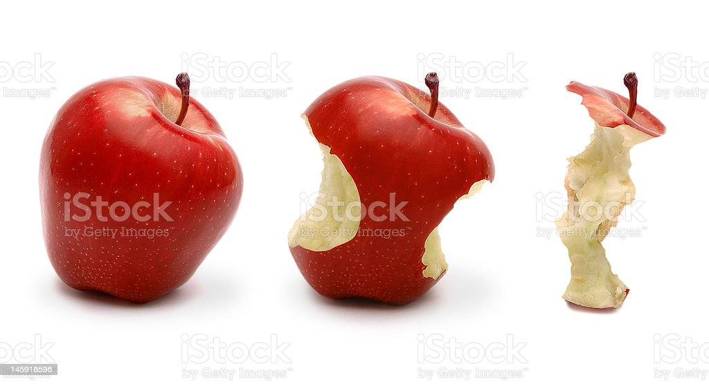 three red apple stock photo