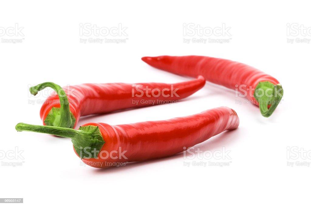 three red chili royalty-free stock photo