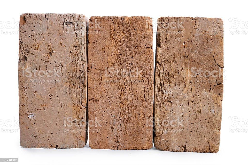 three red-brick stock photo