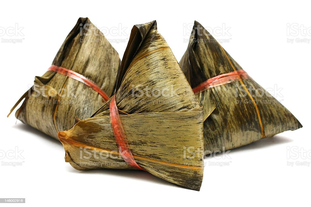 Three Rice Dumplings royalty-free stock photo