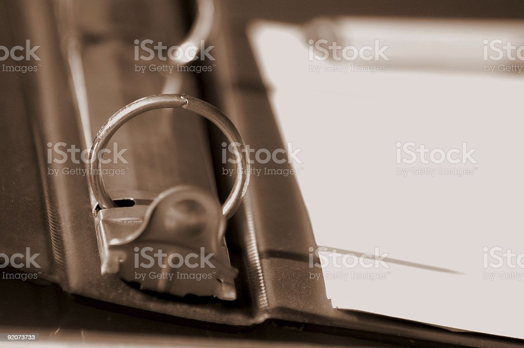 three ring note book stock photo
