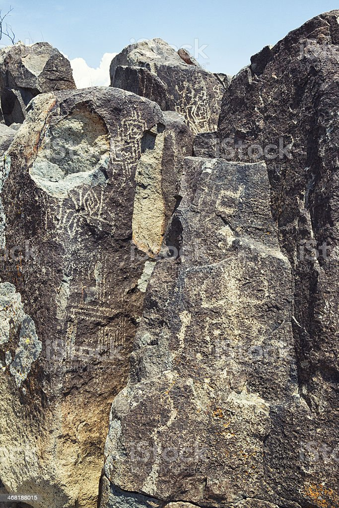 Three Rivers Petroglyph Site stock photo