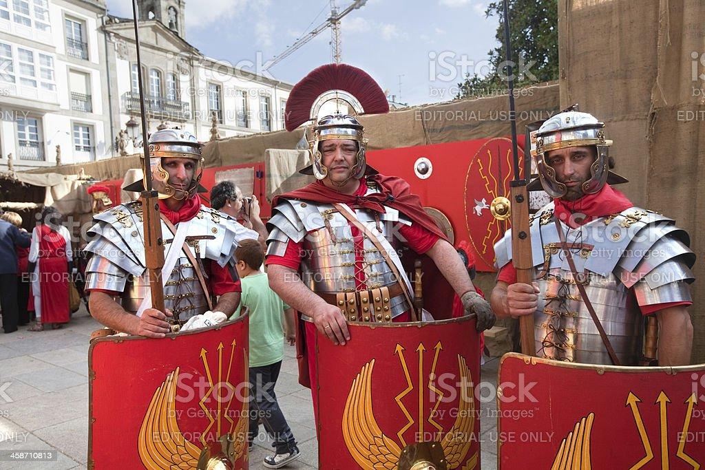 Three romans stock photo