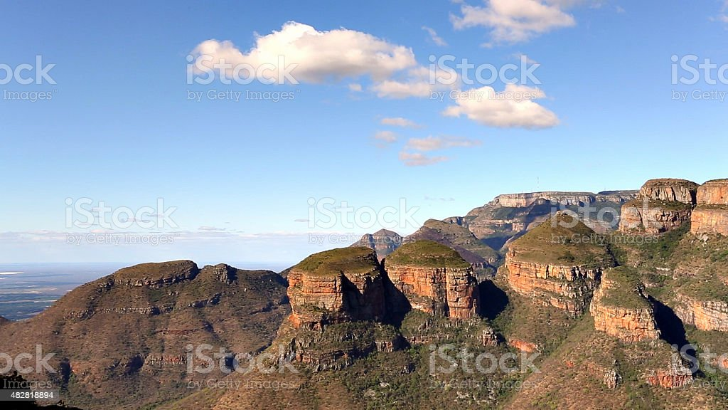Three Rondavels rock formation in Mpumalanga, South Africa stock photo