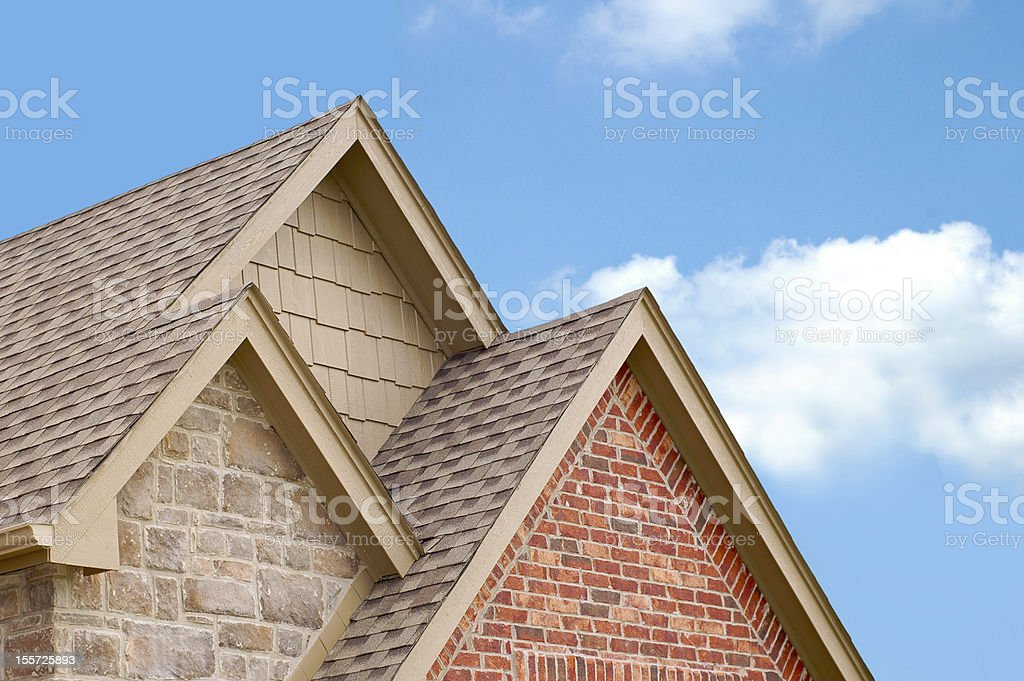 Three Roof Gables stock photo