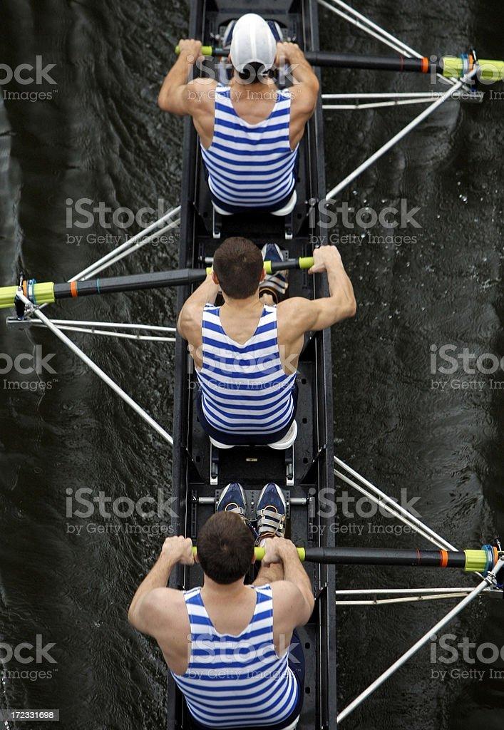 Three Rowers stock photo