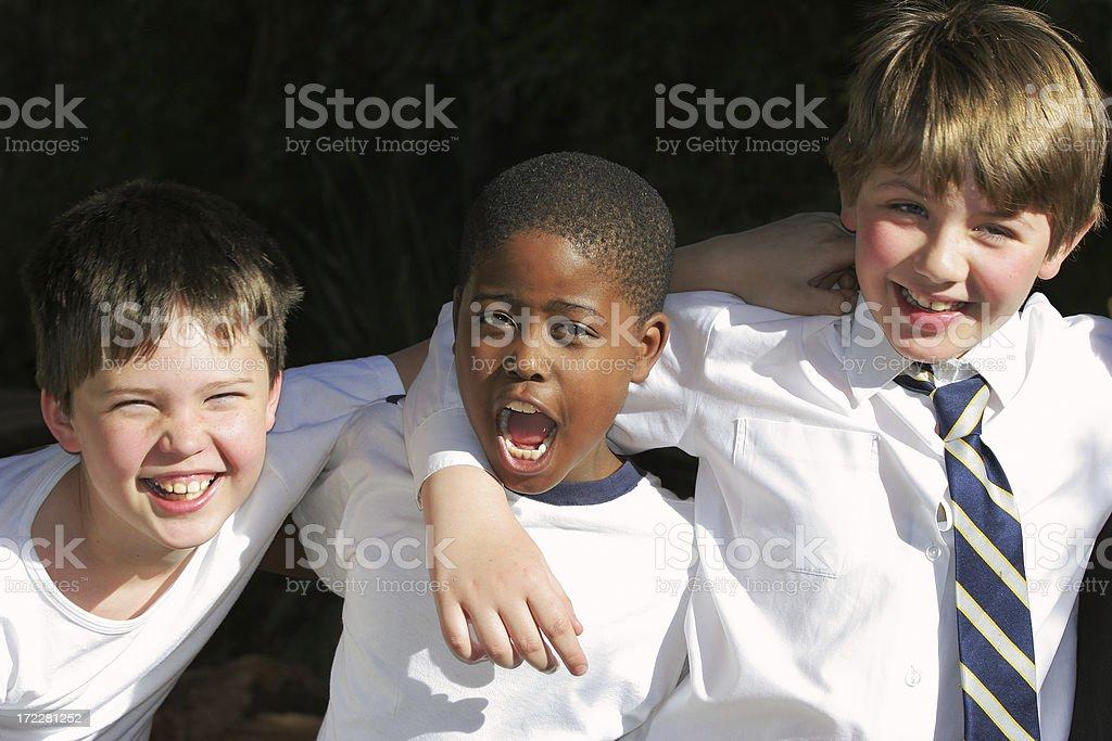 Three Schoolboy Friends royalty-free stock photo