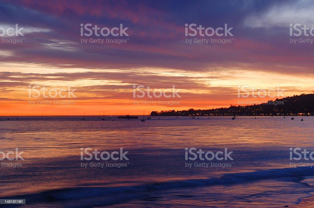 Three Second Sunset stock photo