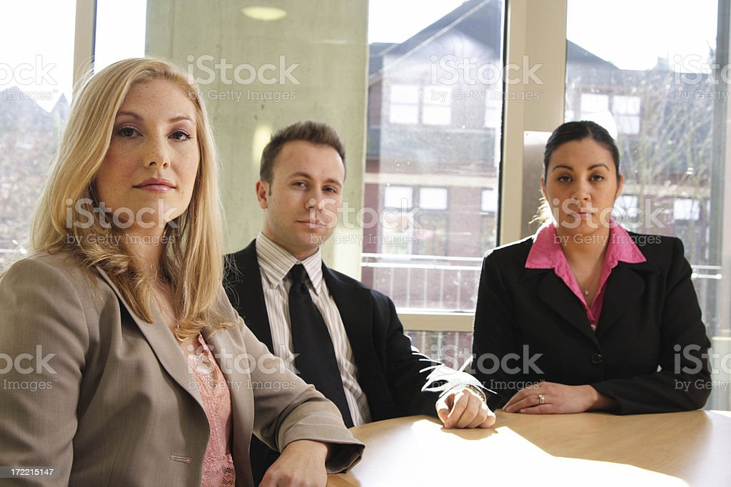 three serious business people royalty-free stock photo