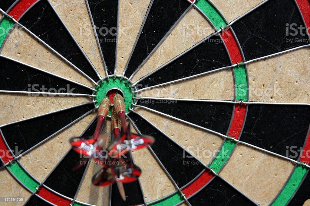 three shafts in a bullseye royalty-free stock photo