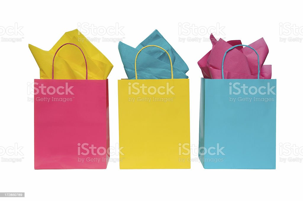 Three Shopping Bags royalty-free stock photo