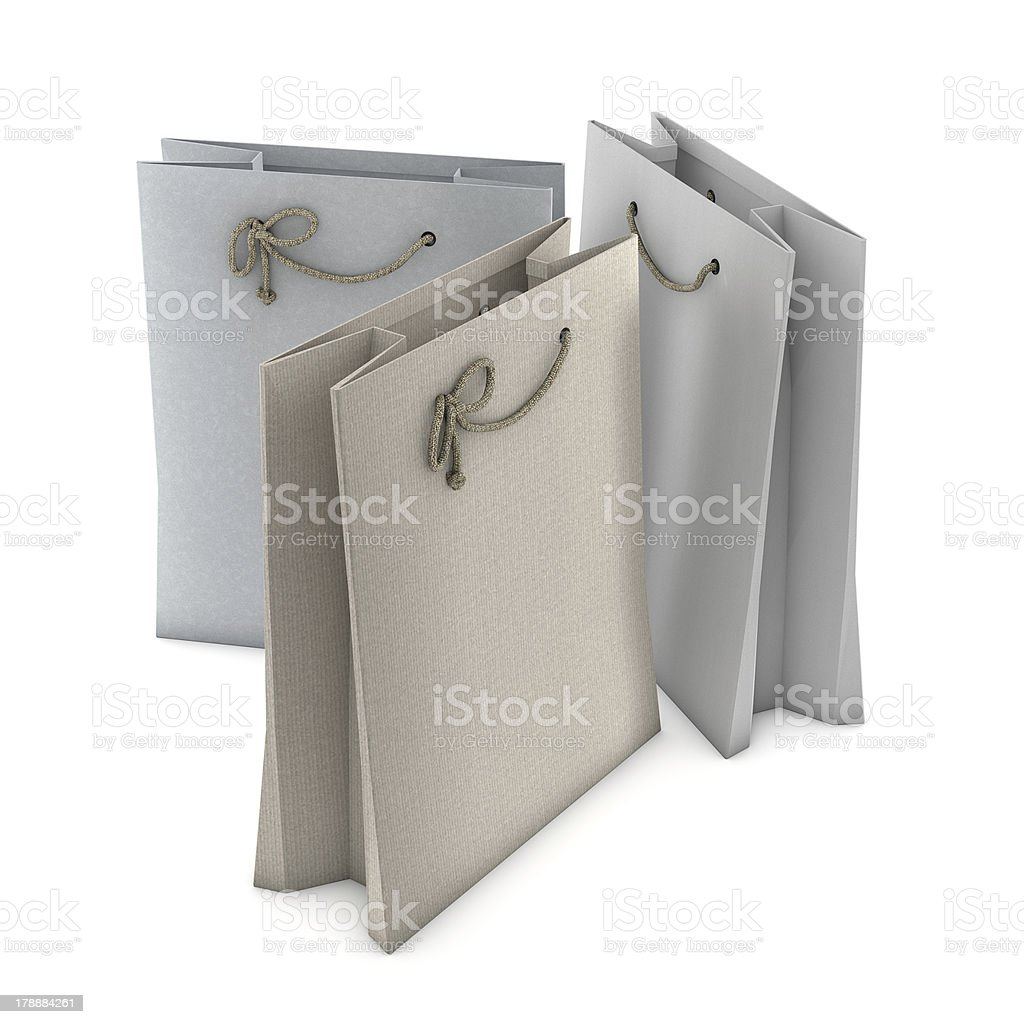 Three Shopping bags stock photo