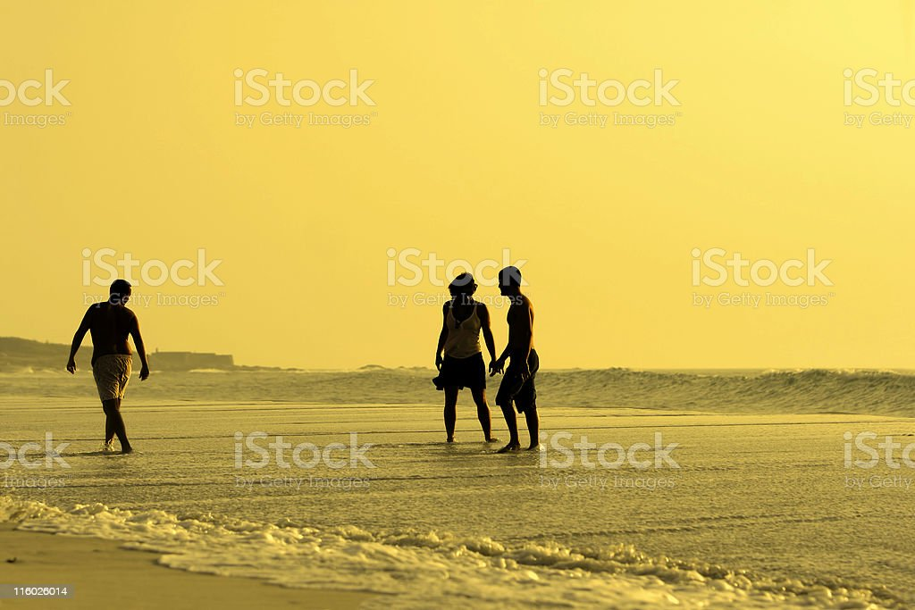 three silhouettes royalty-free stock photo
