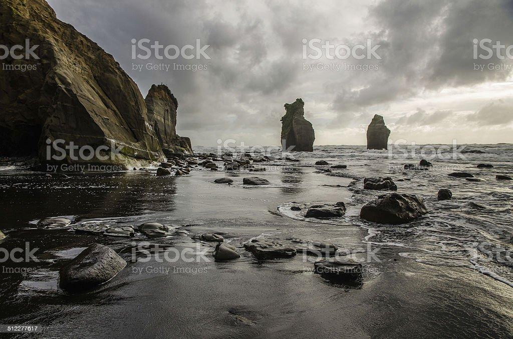Three sisters beach stock photo