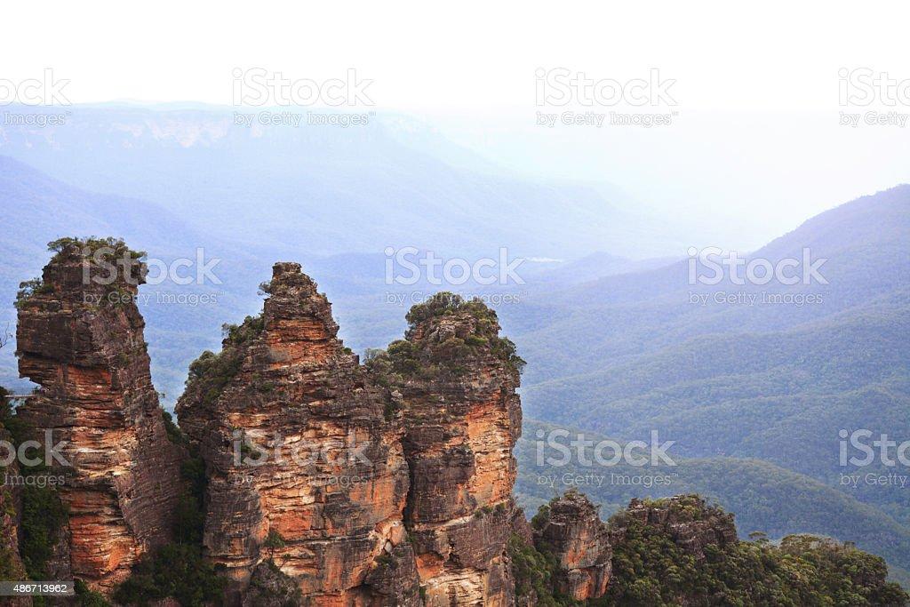 Three Sisters Blue Mountains National Park Australia stock photo