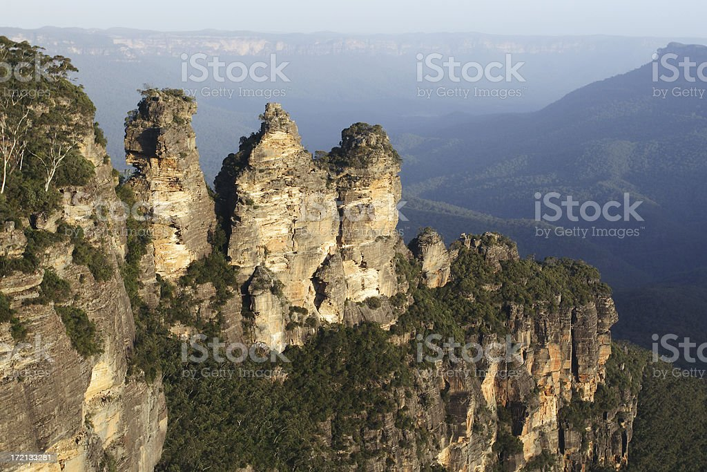 three sisters, blue mountians royalty-free stock photo